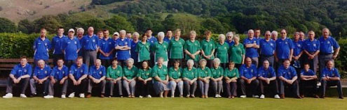 Machynlleth Bowling Club Bowlers